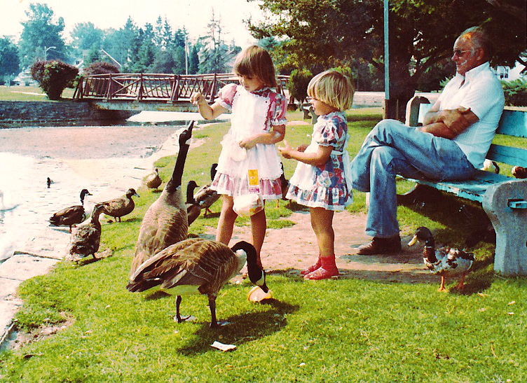 What I want to be - feeding geese